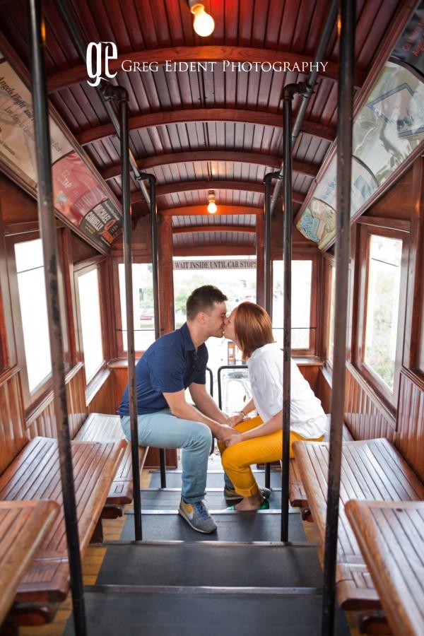 couple engagement_angel flight railways