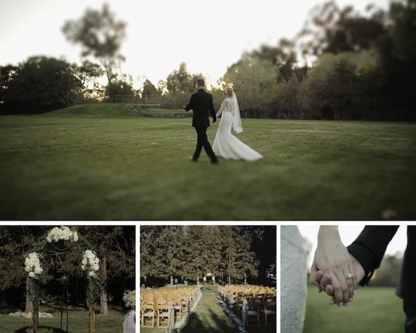 middle ranch outdoor ceremony wedding california