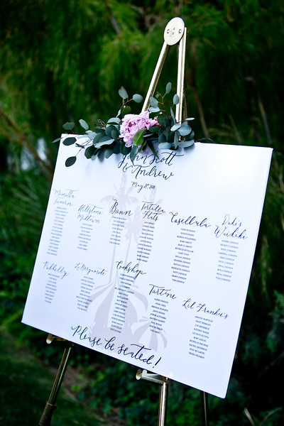 Parker Palm Springs Wedding | Seating Chart | Meadows Events