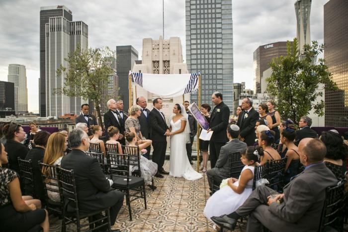 los angeles rooftop wedding perch los angeles