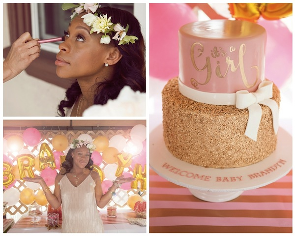 Pink and Gold Spring Baby Shower